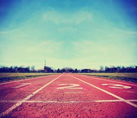 picture of motivation  -  Athlete Track or Running Track with three numbers  - JPG