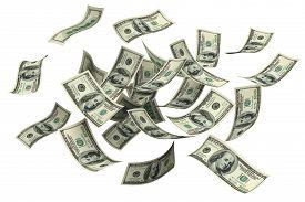 stock photo of money  - Falling  - JPG