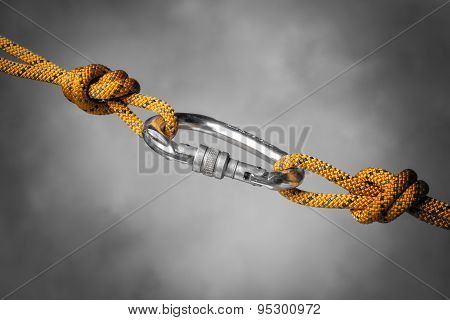 Carabiner With Rope