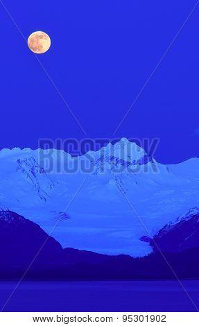 Grewingk Glacier Under A Full Moon