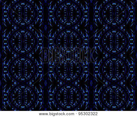 Seamless pattern black blue