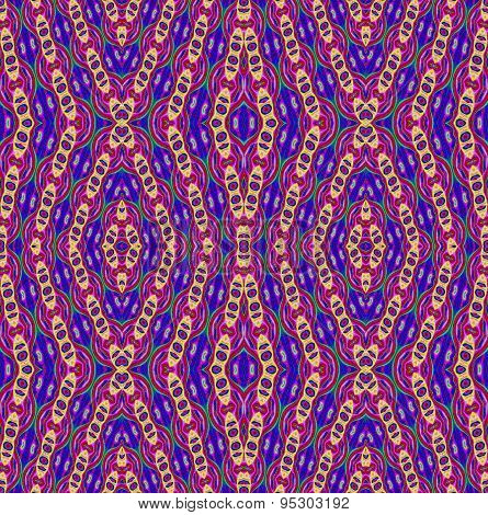 Seamless pattern blue red