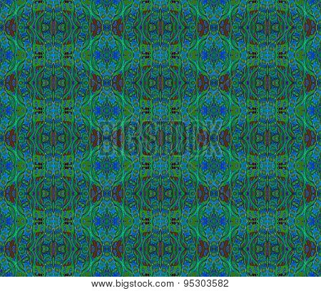 Seamless pattern green blue