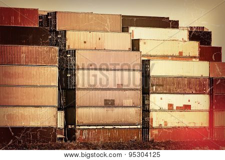 Nostalgia In The Harbor - Old Container Stacks