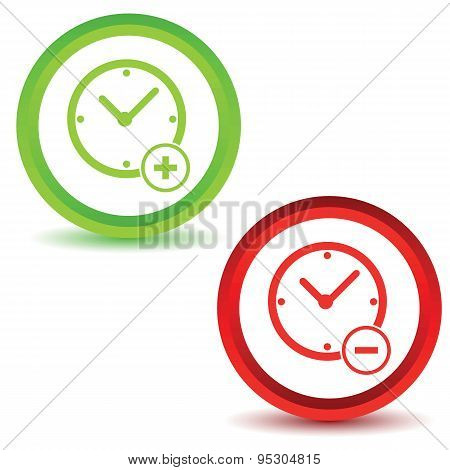 Two time manage icons