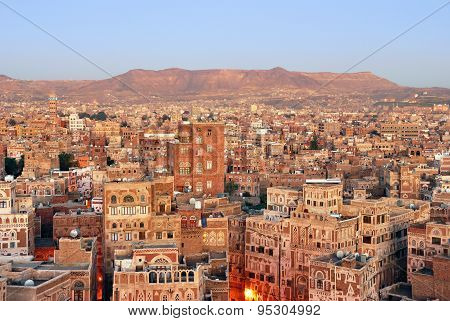 Yemen. Sunrise In Sanaa