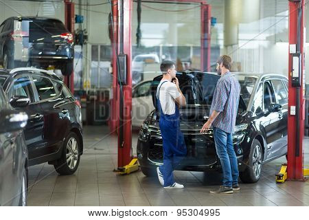 Man Visiting Repair Shop