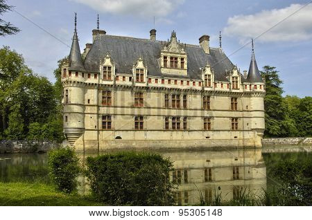 Renaissance Castle Of Azay Le Rideau In Touraine