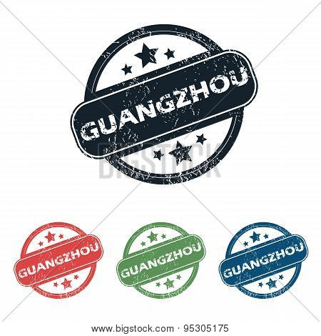 Round Guangzhou city stamp set