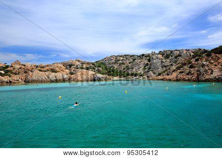 Cala Corsara cove at Maddalena Archipelago in Sardinia