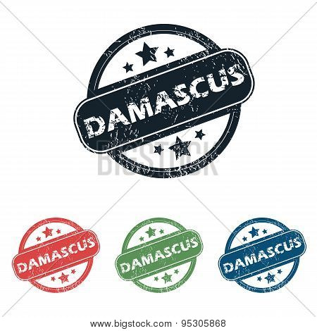 Round Damascus city stamp set