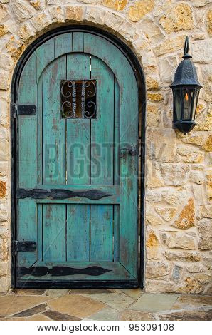 Blue Rustic Door