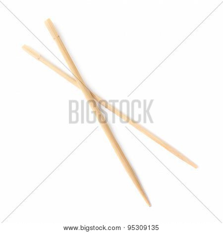 Set of chinese chopsticks sticks isolated