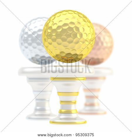 Award golf ball sport trophy cup