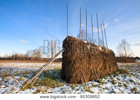 Haystack In Winter