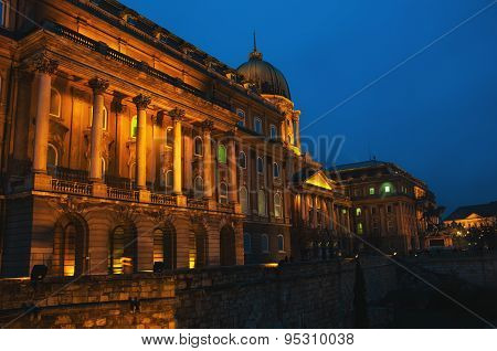 Buda Castle At Night, Budapest