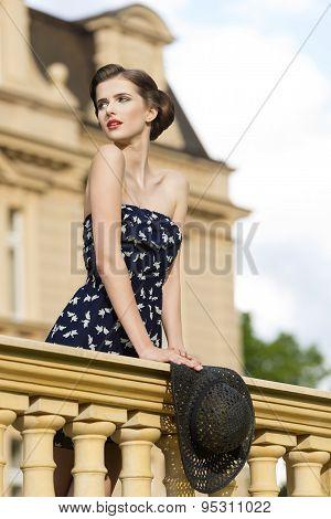 Stunning Girl In Outdoor Fashion Shot