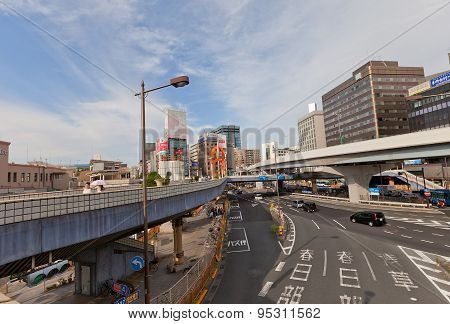 Road Intersection In Ueno, Tokyo, Japan