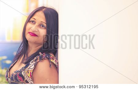 Pretty middle aged asian woman