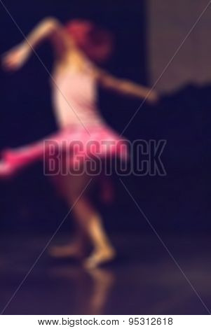 Contemporary dance performance bokeh blur background