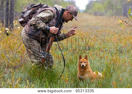 Conversation Between Hunter And Dog