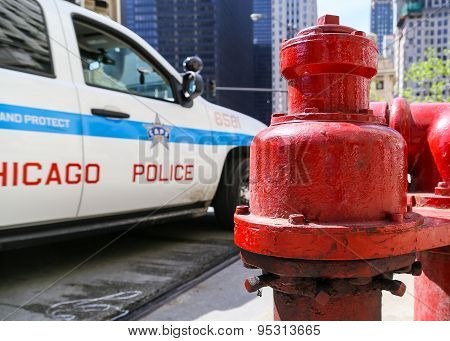 Police on Duty in Chicago