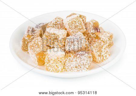 Turkish Delight (rakhat-lukum) On Plate