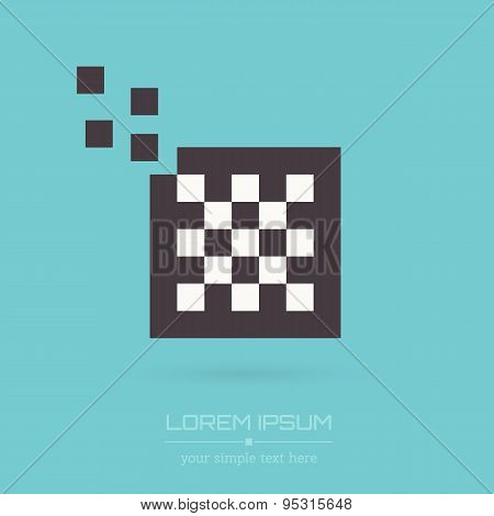 Abstract Creative concept vector logo of chess for web and mobile applications isolated on backgroun