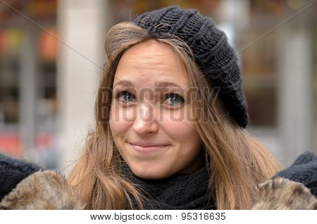Attractive Woman In Winter Fashion