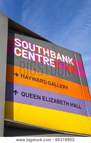 Sign At The Southbank Centre In London