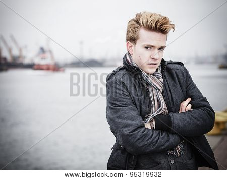 Fashion Model Guy Outdoors