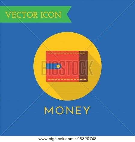 Wallet Icons Vector Set. Shop, money or commerce and mobile symbols. Stocks design element.