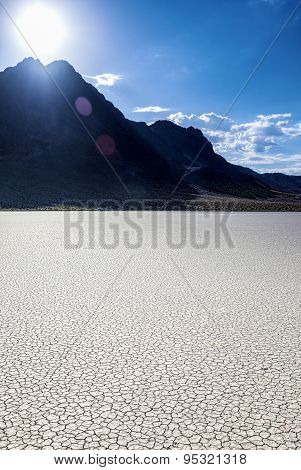 Unique Racetrack Playa In Death Valley National Park In California State.