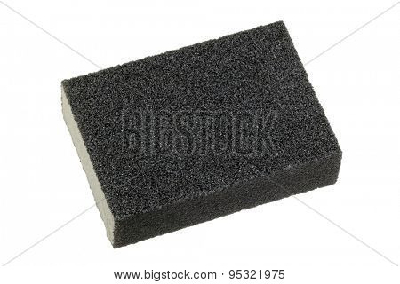 Flexible and non absorbent sanding sponge with 2 sanding grits