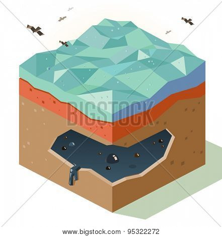 oil reserve fields. vector illustration