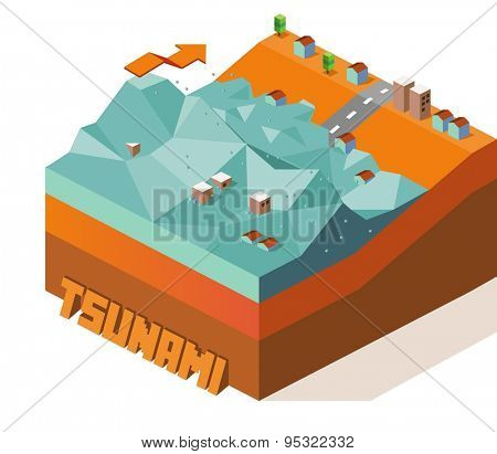 tsunami.vector illustration