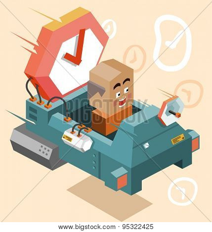 Future time machine. vector illustration