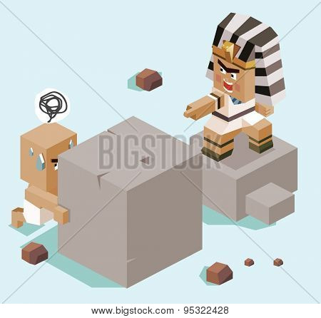 slavery egypt.vector illustration