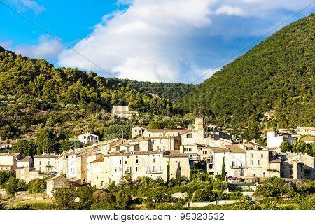 village Venterol in Rhone-Alpes, France