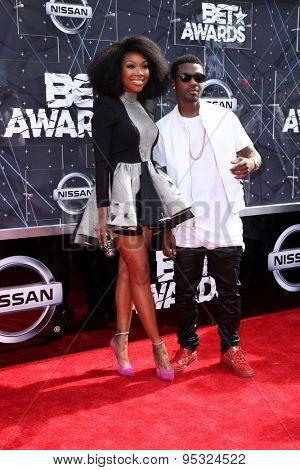 LOS ANGELES - JUN 28:  Brandy Norwood, Ray J Norwood at the 2015 BET Awards - Arrivals at the Microsoft Theater on June 28, 2015 in Los Angeles, CA