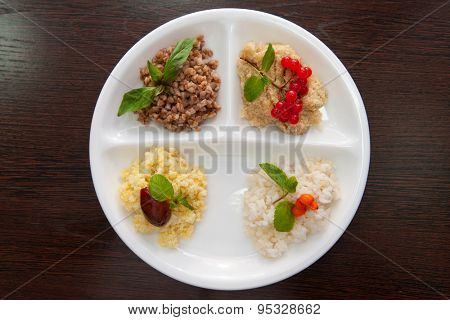 Cereals - buckwheat rice millet wheat groats