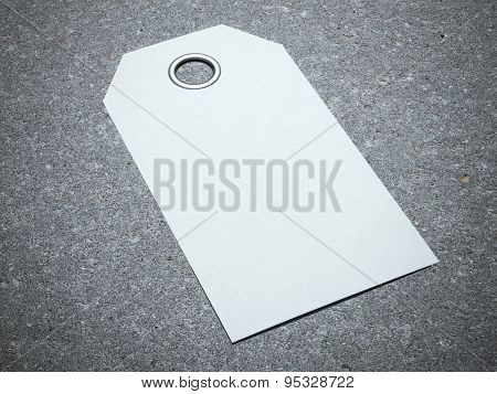 Blank white tag