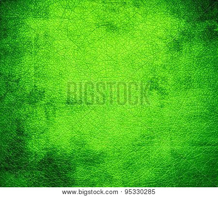 Grunge background of chartreuse (web) leather texture