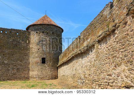 old tower in Akkerman Castle, Belgorod-Dnestrovsky, Ukraine