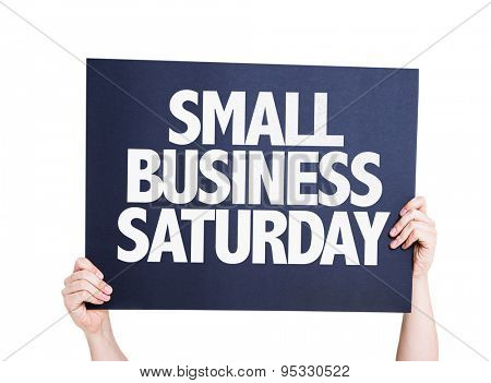 Small Business Saturday card isolated on white