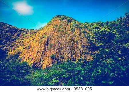 Mountain in the jungles of the island of Ko Phi Phi Lei in Thailand