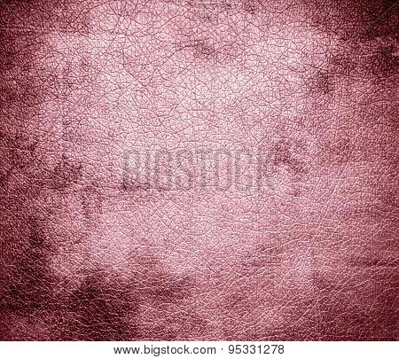 Grunge background of cherry blossom pink leather texture