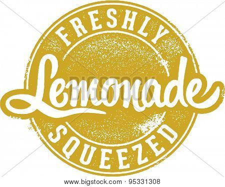 Freshly Squeezed Lemonade Stamp