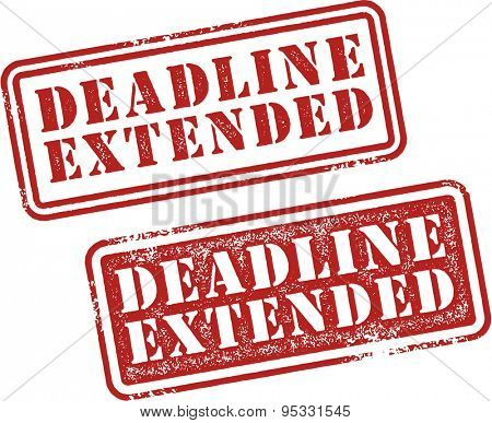 Deadline Extended Rubber Stamp Imprint