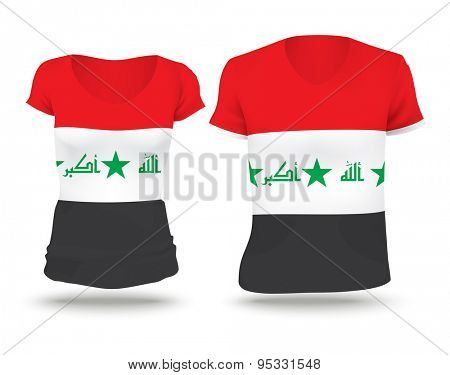 Flag shirt design of Iraq - vector illustration